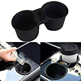 Topfit Tesla Model 3 Model Y Centre Console Cup Holder Silicone Cup Holder for Coins Water Bottles Tesla Model 3 Accessories (Black)