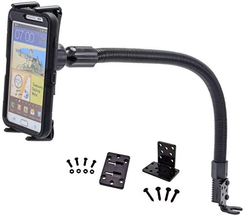 """Premium Seat Bolt Car Mount Vehicle Holder for Samsung Galaxy Tab S3 S4 A E S9 8 S7 Plus Note 9 8 Apple iPad Mini iPhone X 8 7 6 Plus/LG G7 V35 Q8 (5-8"""") Phones or Tablets w/Vibration-Free Cradle"""