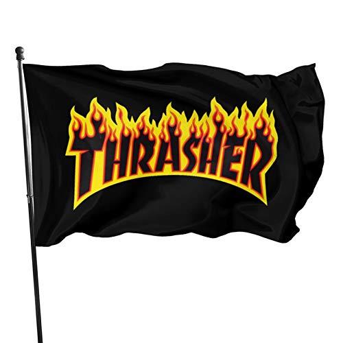 YeeATZ New in 2021 Thrasher Flag 3x5 Ft Fahnen Flagge Flag Banner Polyester Material Gartenbalkon Gartendekoration Im Freien 90x150cm XWXB