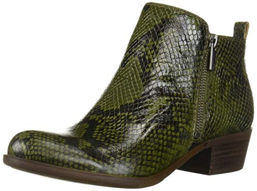 Lucky Brand Botines Basel para Mujer, Verde (Rifle Green), 6.5 US