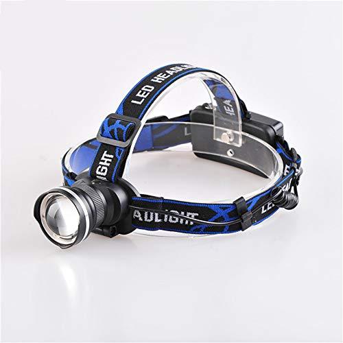 Linterna frontal LED recargable, linterna de bolsillo manos libres para correr, camping, pesca, ciclismo, senderismo