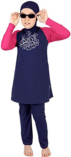 YEESAM® Muslimische Bademode Kinder Top-Qualität Modest Badeanzug für islamische Junge Mädchen (Kinder M (Ref. Alter 7-8), 1#)