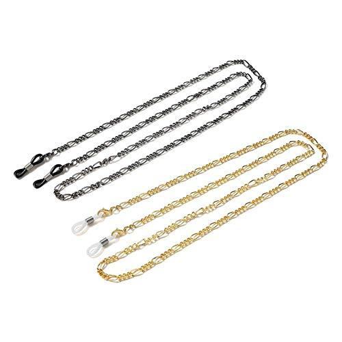 2 pièces métal lunettes chaîne cordon multifonction lunettes de lecture chaîne collier chaîne gouttes de pluie lunettes de soleil cou sangle titulaire