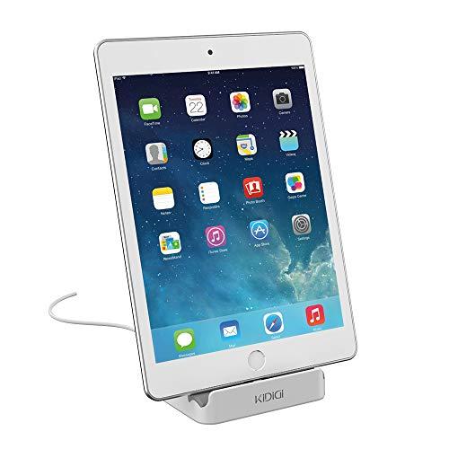 KIDIGI Base de Carga, Soporte de Cargador de Escritorio Certificado por Apple MFi, Soporte de Carga y sincronización de Datos para iPhone, iPad. (Blanco)