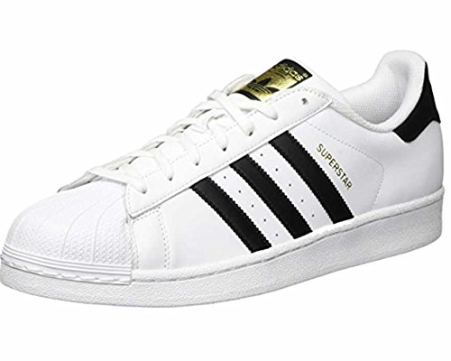 adidas Originals Men's Superstar Casual Sneaker, White/Core Black/White, 8.5 M US