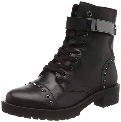 Guess Haleigh S, Botines Mujer, Negro Y Negro, 37 EU (Zapatos)