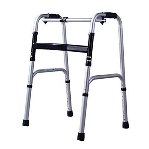MEILILI Andador, Andador para Ancianos, Andador de Acero Inoxidable, Equipo de rehabilitación, Muletas Plegables de Cuatro Patas para hemiplejia