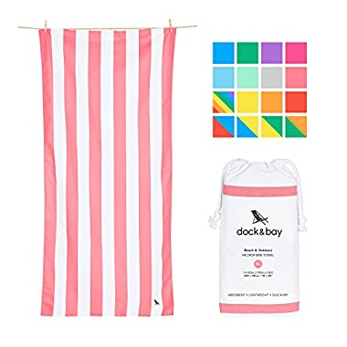Dock & Bay Extra Large Beach Towels XL - Light Red, Extra Large 78x35 - Compact Towel for Camping and Swimming