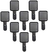 Coupelle Raclette Poêlon Raclette Grill Accessoires Revêtement Antiadhésif, 18x8x0,5cm, 8 Plats, Noir