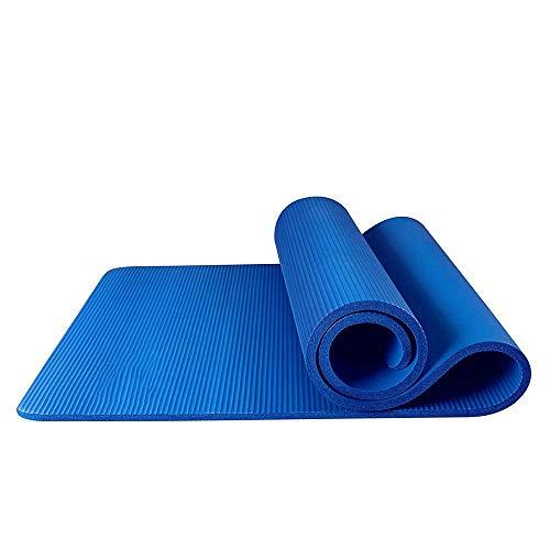 MH-RING Colchoneta de Yoga de NBR de Alta Densidad y Extra Gruesa de 15mm Diseñada para Pilates, Fitness y Entrenamiento 185 * 80CM (Color : Blue)