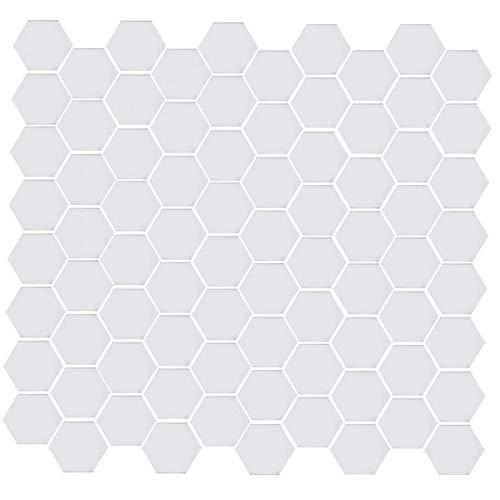 Etiqueta de la pared-Hogar DIY Acrílico Hexagonal Extraíble Espejo Etiqueta de la pared Pegatinas autoadhesivas Decoración 46x40x23mm Plata