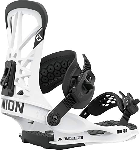 Union Flite Pro Mens Snowboard Bindings Sz M (8-10) White