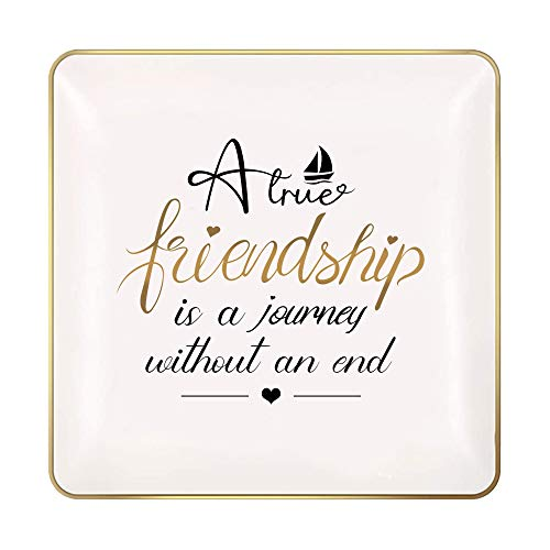 Nordic Runes Friendship Gifts for Women Ring Dish, Small Ceramic Jewelry Tray Friend Birthday Gifts for Bestie, BFF,Funny Friend Female Gifts Decorative Trinket Ring Holder