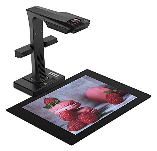 Scanner per Documenti, CZUR ET18 Pro Scanner per Libri Document Camera Scanner Portatile ad Alta Definizione Formato Scanner A3 con 16MP WiFi Funzione AI Tecnologia OCR 180+ Lingue per Windows Mac