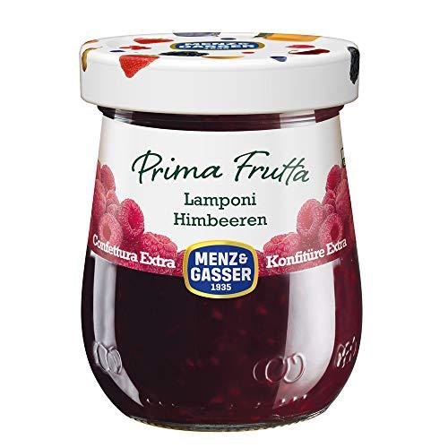 Menz&Gasser Confettura Extra di Lamponi Prima Frutta - Confettura con Frutta di Alta Qualità, 1 Vaso x 340 g