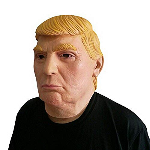 thematys Donald Trump - Mscara perfecta para carnaval y Halloween, disfraz para adultos, ltex, unisex, talla nica
