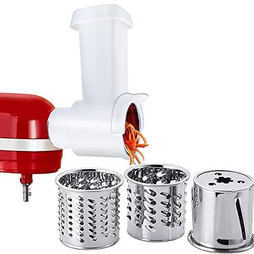 Shunfaji Gemüseschneider Set für kitchenaid/PHISINIC Edelstahl Getreidemühlen, gemüse zerkleinerer Raffelvorsatz, Fleischwolf Zubehör Gemüseschneider Küchenmaschine
