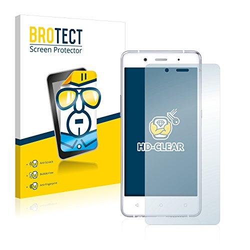 BROTECT Schutzfolie kompatibel mit BQ Aquaris X5 Plus (2 Stück) klare Bildschirmschutz-Folie