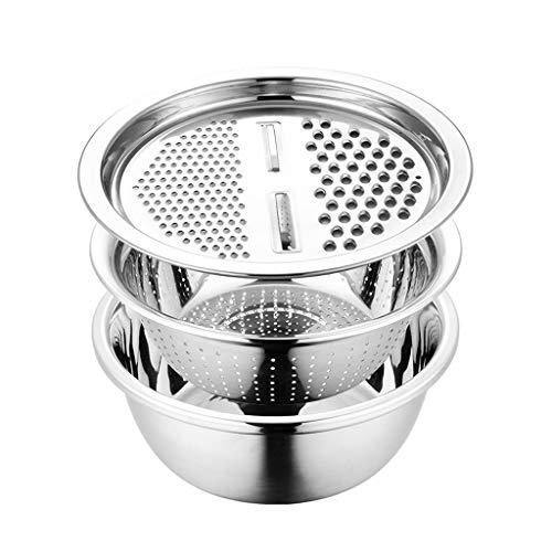 NYKK Reibe Edelstahl-Reibe Küche Multifunktions Reibe Abflussbecken Haushaltsgemüseschneidemaschine