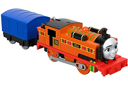 Thomas & Friends FXX47 Thomas and Friends Trackmaster Motorised Nia Toy Train, 3 años de Edad, Multicolor