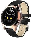 KW10 IP68 feminino relógio inteligente pulseira bonita à prova d'água sono Android IOS (ouro Preto)