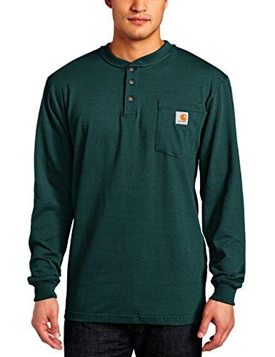 Carhartt Men's Workwear Pocket Henley Shirt (Regular and Big & Tall Sizes), Hunter Green, X-Large
