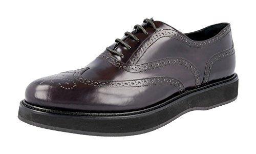 Prada Damen Braun Budspester Leder Business Schuhe 1E526G X6O F0170 41 EU