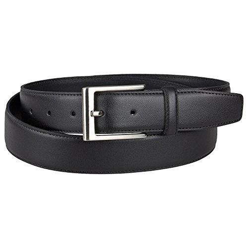 LINDENMANN Schwarzer Anzuggürtel bis 150cm & 35mm breit, Größe:135