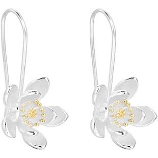 Simple Flower Hoop Earring 925 Silver Earrings Accessories Handmade Jewelry
