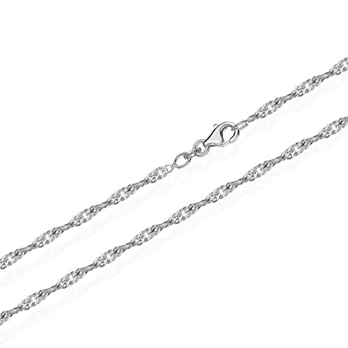 NKlaus echte 925er Sterlingsilber Silber Singapur Kette gedreht 60cm 1,90mm 2,9gr 5680