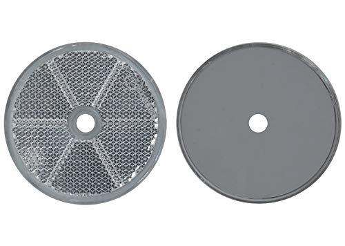 FKAnhängerteile 8 x Spot – Réflecteur Arrière – Vis – Ø 60 mm – Blanc – E de Marque de Contrôle