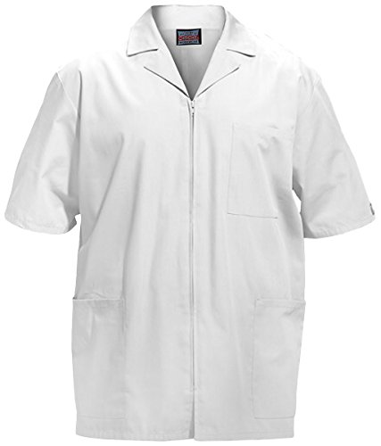 Cherokee Workwear Men's Zip Front Jacket_White_Large,4300