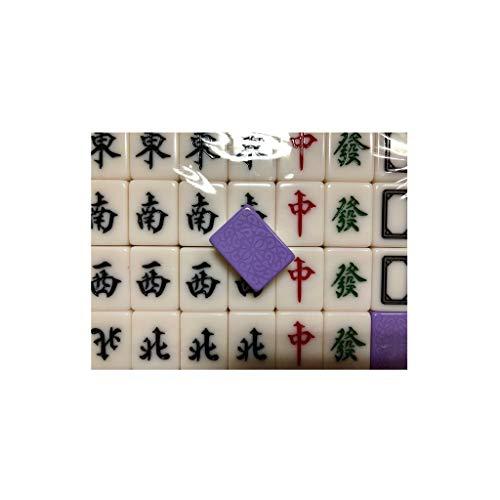 Mahjong Set MahJongg Tile Set Juego de juegos de Mahjong Chino, Material de acrílico de 144 azulejos Portátiles Material de acrílico MAH-JONGG, juegos de juegos MAJONG para juegos de viajes Familia Ju