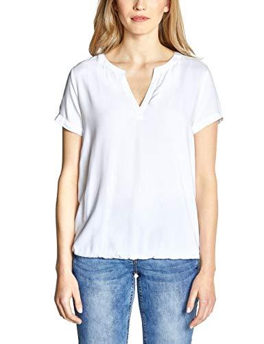 CECIL Damen 341452 Bluse, per pack Weiß (White 10000), X-Large (Herstellergröße:XL)