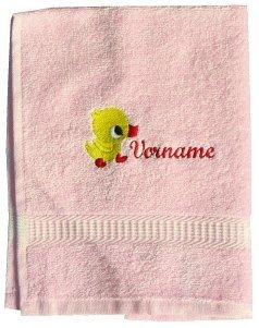 Handdoek met Borduurwerk van Eend en Uw Namen