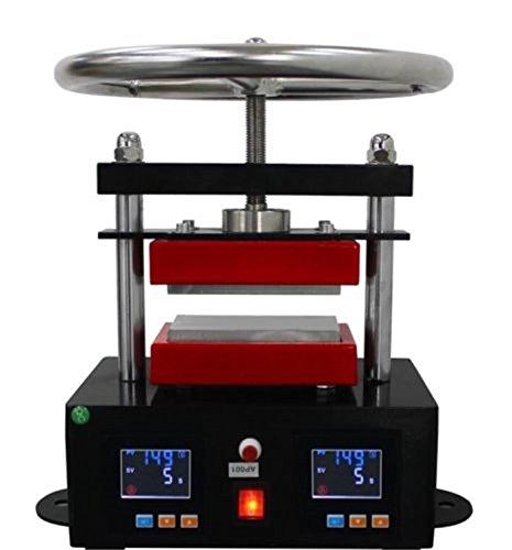 220V 6x12cm dual heat plates manual twist rosin heat press …