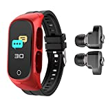 HQPCAHL Pulsera Inteligente TWS Auricular Bluetooth Llamada Dos En Uno Auricular Bluetooth Pulsera Inteligente Auricular Música Controlador Multifunción...