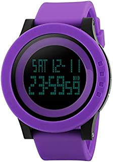 1142 Multifunctional Men Outside Sports Noctilucent Raincoat Silica Gel Digital Watch AWANGBC