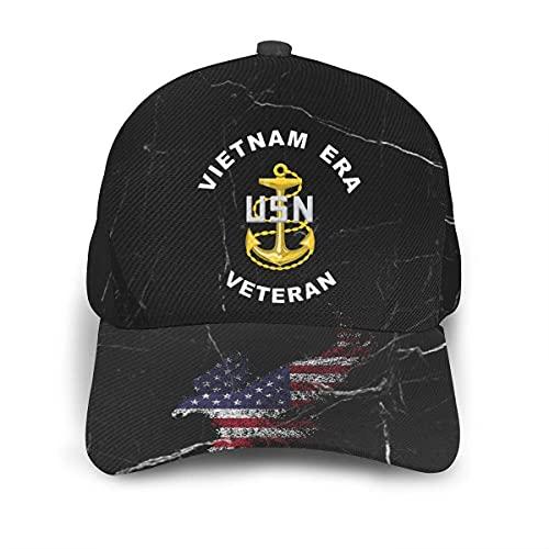 Sombrero Veterano De La Era De Vietnam De La Armada De Los Estados Unidos Baseball Cap Retro Hip Hop Sombreros para Regalos Pesca Ciclismo
