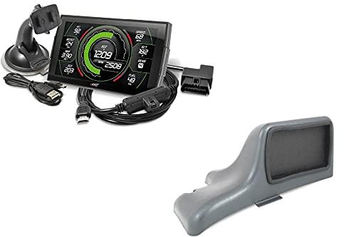 Edge EVO Evolution CTS3 Touch Screen Gauge Monitor 85400-200 & Dash Pod 28500 Compatible with 2001-2007 Chevy Silverado/GMC Sierra 6.6L LB7/LLY/LBZ Duramax Diesel 2500HD 3500HD
