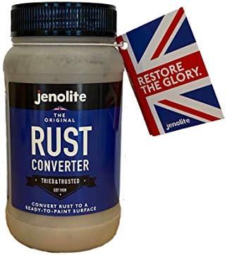 JENOLITE Original Rust Converter - Convert Rust Into A Ready To Paint Surface - One Application - Neutralise & Prevent Rust - 250ml