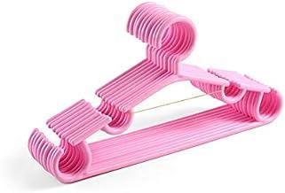 Hanging Multifunctional Drying Rack Plastic Space-Saving Clothing Storage (Color : Pink)