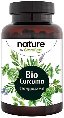 Bio Curcuma 4.602 mg - 240 vegane Kapseln - 4602 mg Bio Curcuma + Bio Schwarzer Pfeffer pro Tag - Mit Curcumin + Piperin - Laborgeprüft ohne Zusätze in Deutschland hergestellt