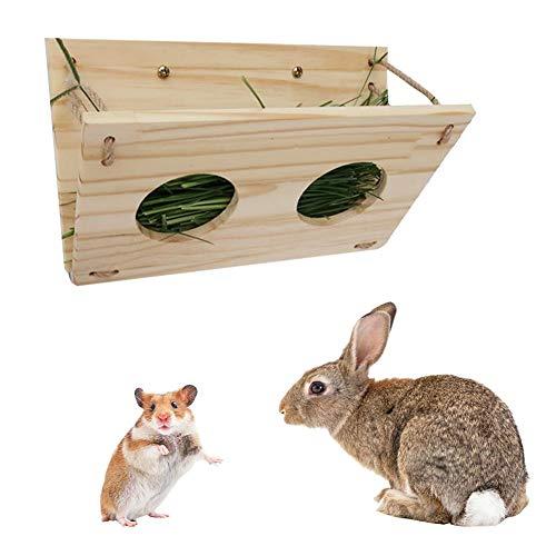 Rikey Alimentador Plegable de heno Alimentador de heno de Conejo Marco de Estante de Hierba para cuy Tortuga Tortuga