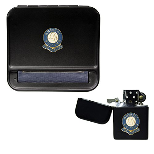 Bristol Rovers Football Club Cigarette Rolling Machine and storproof Petrol Lighter