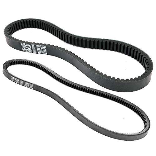 Roykaw EZGO TXT/Medalist Drive Belt & Starter Generator Belt Kits for 4 Cycle 1994-up Gas Golf Cart OEM #72054G01,72024G01,72025G01,26414G01