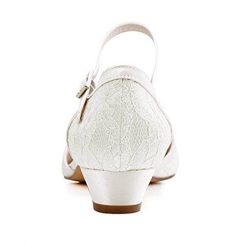 Elegantpark // Brautschuhe mit diesem niedrigen Absatz (Ivory oder Weiß) - 6