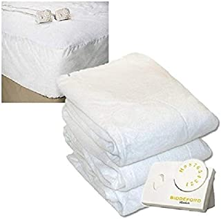 Overstock Pure Warmth 5904-9081RM-100 Cal King Size Heated Mattress Pad Natural - White