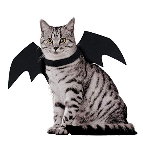 Puppy Cat Bat Wings for Halloween Party Costume, Dog Cat Cosplay Bat Costume, Cute Puppy Cat Dress Up Clothes