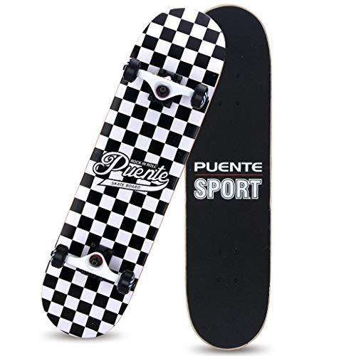 Skateboard Profi Anfänger Erwachsene Jungen und Mädchen doppelt verzogen Vierrädrige Jugend Brush Street Scooter (Color : B)